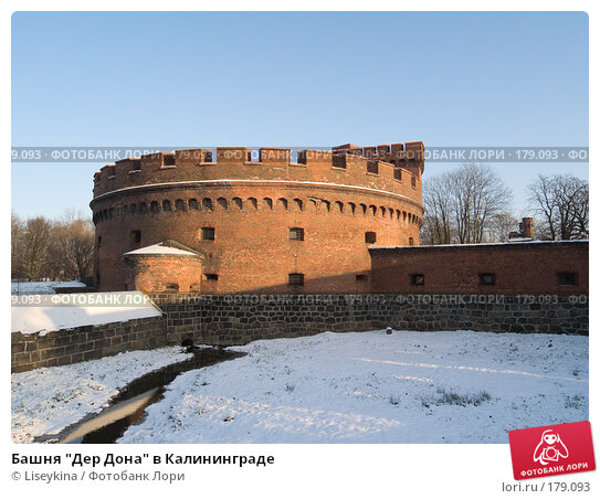 "Башня ""Дер Дона"" в Калининграде, фото № 179093, снято 2 января 2008 г. (c) Liseykina / Фотобанк Лори"
