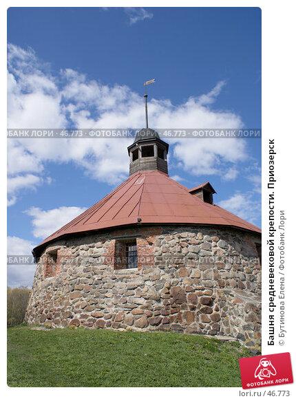 Купить «Башня средневековой крепости. Приозерск», фото № 46773, снято 12 мая 2007 г. (c) Бутинова Елена / Фотобанк Лори