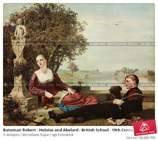 Bateman Robert - Heloise and Abelard - British School - 19th Century. Стоковое фото, фотограф Artepics / age Fotostock / Фотобанк Лори