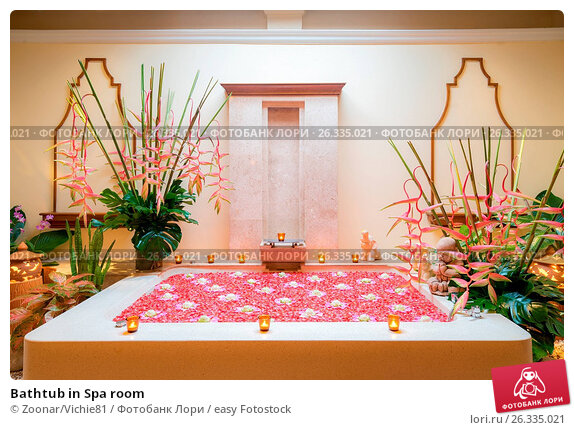 Bathtub in Spa room, фото № 26335021, снято 24 июня 2017 г. (c) easy Fotostock / Фотобанк Лори