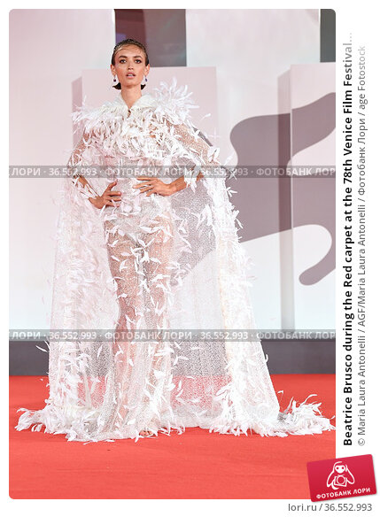 Beatrice Brusco during the Red carpet at the 78th Venice Film Festival... Редакционное фото, фотограф Maria Laura Antonelli / AGF/Maria Laura Antonelli / age Fotostock / Фотобанк Лори