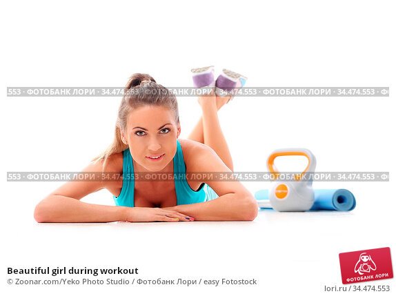 Beautiful girl during workout. Стоковое фото, фотограф Zoonar.com/Yeko Photo Studio / easy Fotostock / Фотобанк Лори