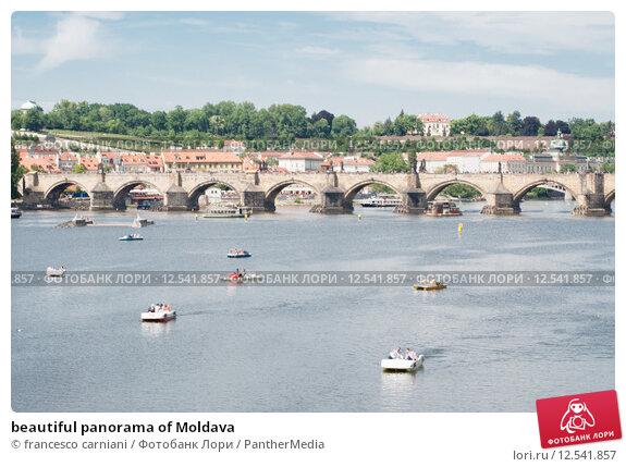 Купить «beautiful panorama of Moldava», фото № 12541857, снято 17 февраля 2019 г. (c) PantherMedia / Фотобанк Лори