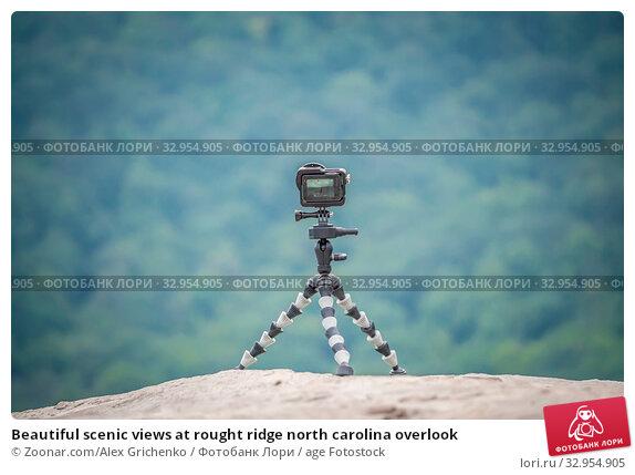 Beautiful scenic views at rought ridge north carolina overlook. Стоковое фото, фотограф Zoonar.com/Alex Grichenko / age Fotostock / Фотобанк Лори