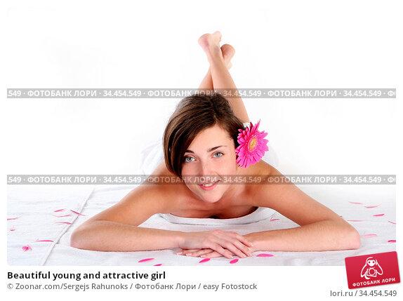 Beautiful young and attractive girl. Стоковое фото, фотограф Zoonar.com/Sergejs Rahunoks / easy Fotostock / Фотобанк Лори