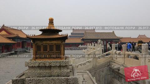 Купить «Beijing. The Palace Museum, Forbidden city», видеоролик № 26017813, снято 3 апреля 2017 г. (c) Яна Королёва / Фотобанк Лори