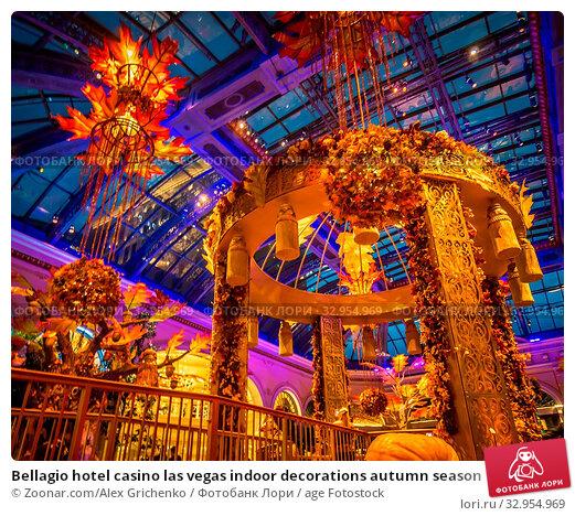Bellagio hotel casino las vegas indoor decorations autumn season. Стоковое фото, фотограф Zoonar.com/Alex Grichenko / age Fotostock / Фотобанк Лори