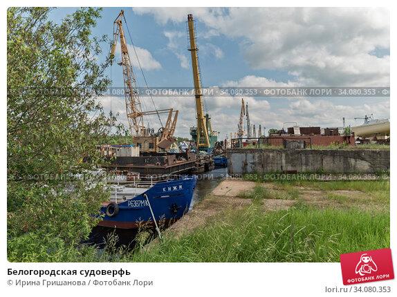 Купить «Белогородская судоверфь», фото № 34080353, снято 20 июня 2020 г. (c) Ирина Гришанова / Фотобанк Лори