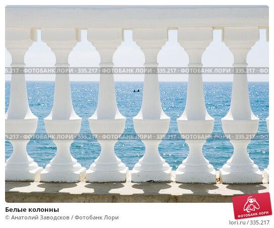 Белые колонны, фото № 335217, снято 24 мая 2008 г. (c) Анатолий Заводсков / Фотобанк Лори