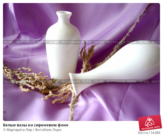 Белые вазы на сиреневом фоне, фото № 14085, снято 30 сентября 2006 г. (c) Маргарита Лир / Фотобанк Лори