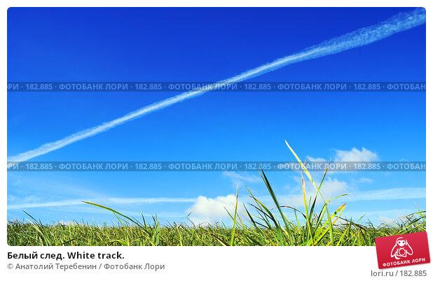 Белый след. White track., фото № 182885, снято 2 сентября 2007 г. (c) Анатолий Теребенин / Фотобанк Лори