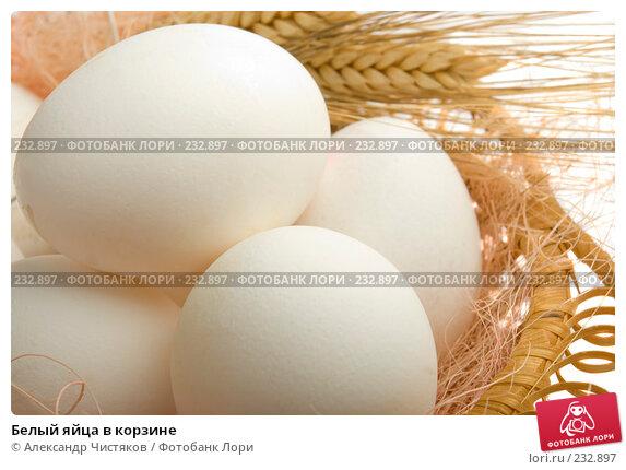 Белый яйца в корзине, фото № 232897, снято 11 марта 2008 г. (c) Александр Чистяков / Фотобанк Лори