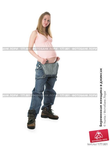 Купить «Беременная женщина в джинсах», фото № 177001, снято 14 декабря 2007 г. (c) hunta / Фотобанк Лори