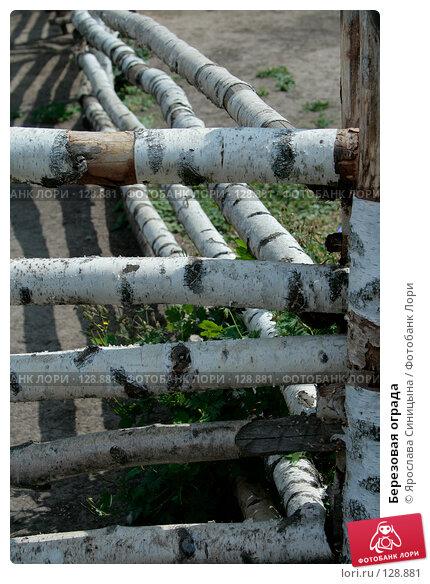 Березовая ограда, фото № 128881, снято 28 июля 2007 г. (c) Ярослава Синицына / Фотобанк Лори