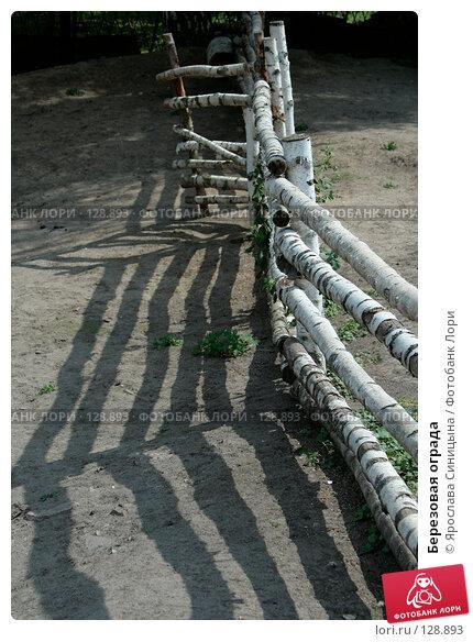 Купить «Березовая ограда», фото № 128893, снято 28 июля 2007 г. (c) Ярослава Синицына / Фотобанк Лори