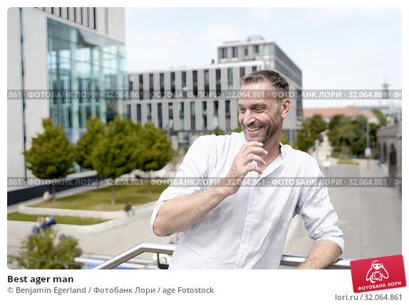 Best ager man. Стоковое фото, фотограф Benjamin Egerland / age Fotostock / Фотобанк Лори