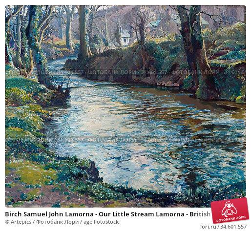 Birch Samuel John Lamorna - Our Little Stream Lamorna - British School... Стоковое фото, фотограф Artepics / age Fotostock / Фотобанк Лори