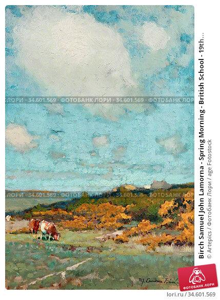 Birch Samuel John Lamorna - Spring Morning - British School - 19th... Стоковое фото, фотограф Artepics / age Fotostock / Фотобанк Лори