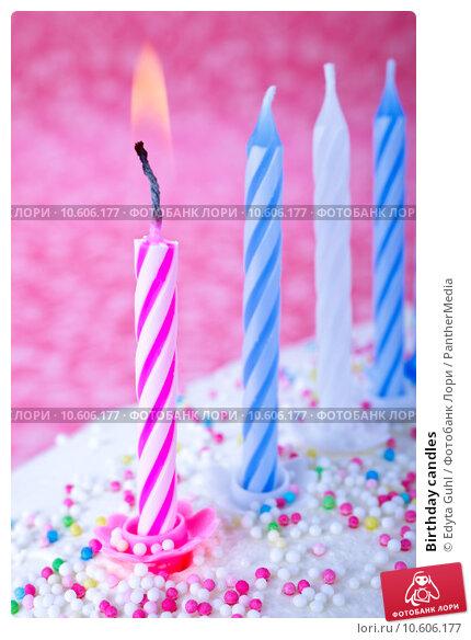 Birthday candles. Стоковое фото, фотограф Edyta Guhl / PantherMedia / Фотобанк Лори
