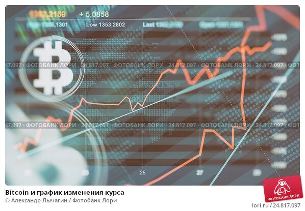 Купить «Bitcoin и график изменения курса», фото № 24817097, снято 23 апреля 2019 г. (c) Александр Лычагин / Фотобанк Лори