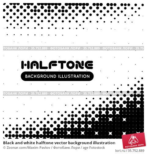 Black and white halftone vector background illustration. Стоковое фото, фотограф Zoonar.com/Maxim Pavlov / age Fotostock / Фотобанк Лори