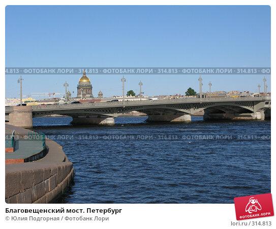 Благовещенский мост. Петербург, фото № 314813, снято 7 июня 2008 г. (c) Юлия Селезнева / Фотобанк Лори