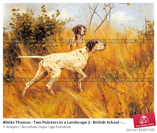 Blinks Thomas - Two Pointers in a Landscape 2 - British School - ... Стоковое фото, фотограф Artepics / age Fotostock / Фотобанк Лори