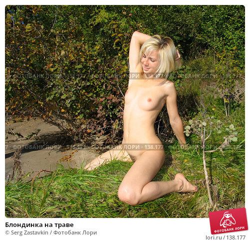 Блондинка на траве, фото № 138177, снято 18 сентября 2005 г. (c) Serg Zastavkin / Фотобанк Лори