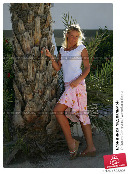 Блондинка под пальмой, фото № 322905, снято 2 сентября 2006 г. (c) Ольга Сапегина / Фотобанк Лори