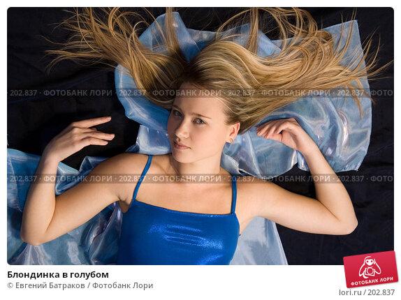 Блондинка в голубом, фото № 202837, снято 25 ноября 2007 г. (c) Евгений Батраков / Фотобанк Лори
