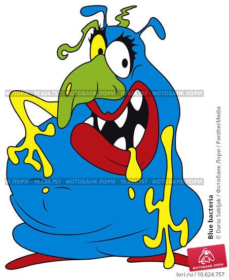 Blue bacteria. Стоковое фото, фотограф Dario Sabljak / PantherMedia / Фотобанк Лори