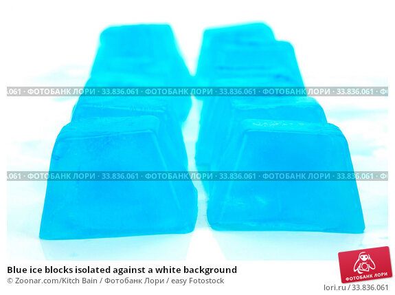 Купить «Blue ice blocks isolated against a white background», фото № 33836061, снято 1 июня 2020 г. (c) easy Fotostock / Фотобанк Лори