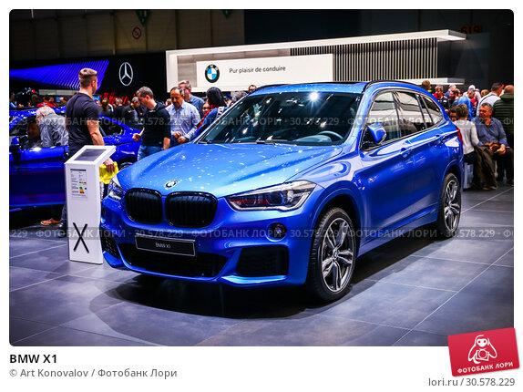 Купить «BMW X1», фото № 30578229, снято 11 марта 2019 г. (c) Art Konovalov / Фотобанк Лори