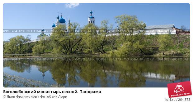 Боголюбовский монастырь весной. Панорама, фото № 264373, снято 26 марта 2017 г. (c) Яков Филимонов / Фотобанк Лори