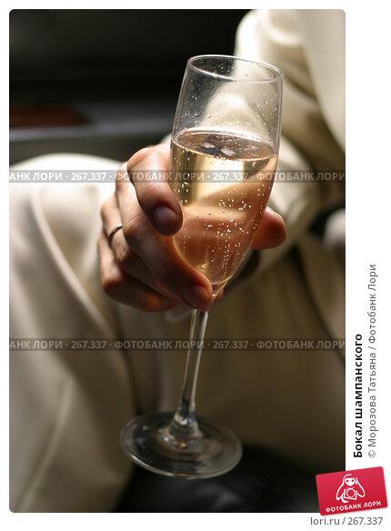Бокал шампанского, фото № 267337, снято 17 июня 2006 г. (c) Морозова Татьяна / Фотобанк Лори
