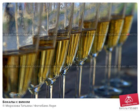 Бокалы с вином, фото № 53661, снято 2 октября 2005 г. (c) Морозова Татьяна / Фотобанк Лори