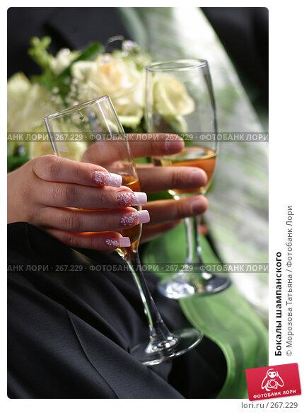 Бокалы шампанского, фото № 267229, снято 29 июля 2006 г. (c) Морозова Татьяна / Фотобанк Лори