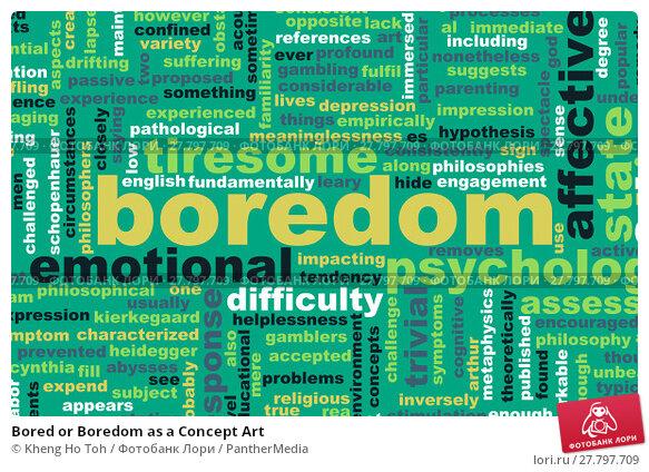 Купить «Bored or Boredom as a Concept Art», фото № 27797709, снято 22 февраля 2018 г. (c) PantherMedia / Фотобанк Лори