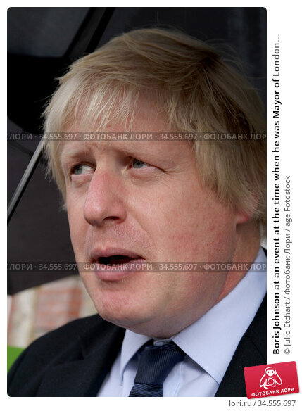 Boris Johnson at an event at the time when he was Mayor of London... (2011 год). Редакционное фото, фотограф Julio Etchart / age Fotostock / Фотобанк Лори
