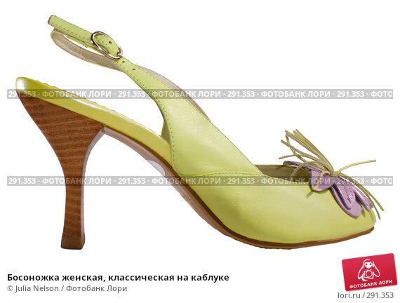 Купить «Босоножка женская, классическая на каблуке», фото № 291353, снято 18 мая 2008 г. (c) Julia Nelson / Фотобанк Лори