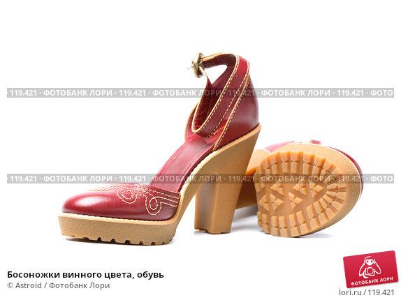 Босоножки винного цвета, обувь, фото № 119421, снято 7 марта 2007 г. (c) Astroid / Фотобанк Лори