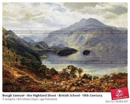 Bough Samuel - the Highland Shoot - British School - 19th Century. Стоковое фото, фотограф Artepics / age Fotostock / Фотобанк Лори