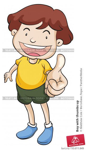 Boy with thumbs up. Стоковая иллюстрация, иллюстратор Matthew Cole / PantherMedia / Фотобанк Лори