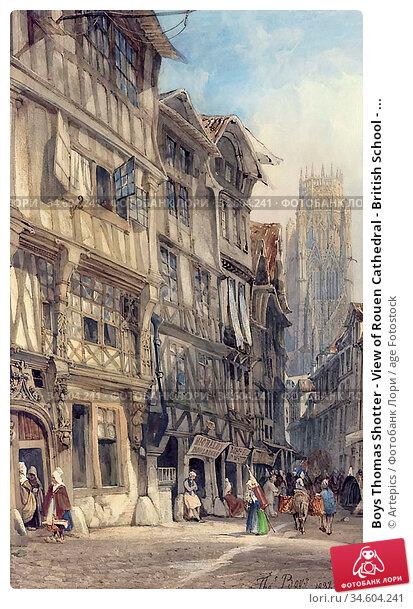 Boys Thomas Shotter - View of Rouen Cathedral - British School - ... Стоковое фото, фотограф Artepics / age Fotostock / Фотобанк Лори
