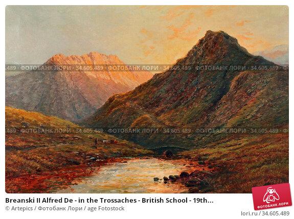 Breanski II Alfred De - in the Trossaches - British School - 19th... Стоковое фото, фотограф Artepics / age Fotostock / Фотобанк Лори