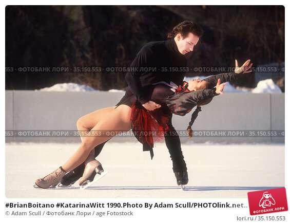 #BrianBoitano #KatarinaWitt 1990.Photo By Adam Scull/PHOTOlink.net.. Редакционное фото, фотограф Adam Scull / age Fotostock / Фотобанк Лори