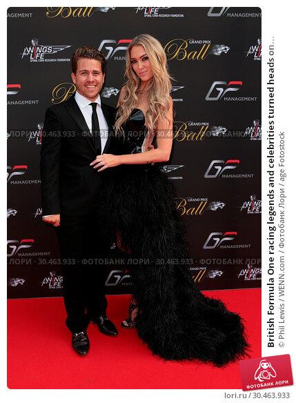 British Formula One racing legends and celebrities turned heads on... (2017 год). Редакционное фото, фотограф Phil Lewis / WENN.com / age Fotostock / Фотобанк Лори