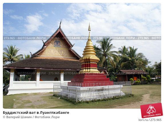 Буддистский ват в Луангпхабанге, фото № 273965, снято 6 декабря 2007 г. (c) Валерий Шанин / Фотобанк Лори