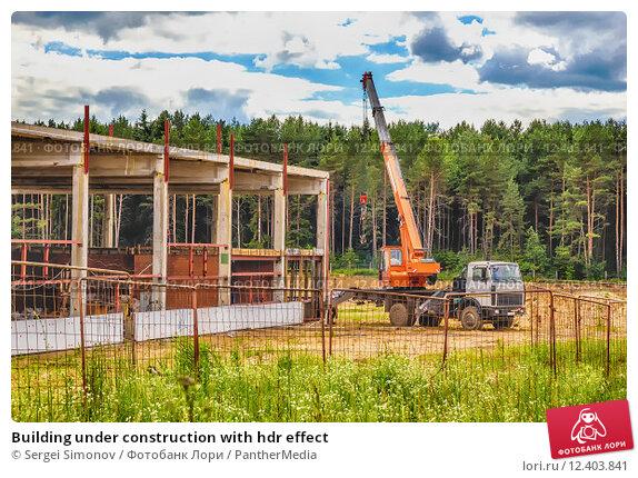 Купить «Building under construction with hdr effect», фото № 12403841, снято 19 февраля 2019 г. (c) PantherMedia / Фотобанк Лори