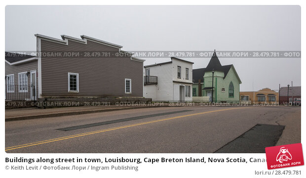 Купить «Buildings along street in town, Louisbourg, Cape Breton Island, Nova Scotia, Canada», фото № 28479781, снято 13 июня 2016 г. (c) Ingram Publishing / Фотобанк Лори